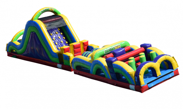 60 ft Radical Run-Slide and Obstacle