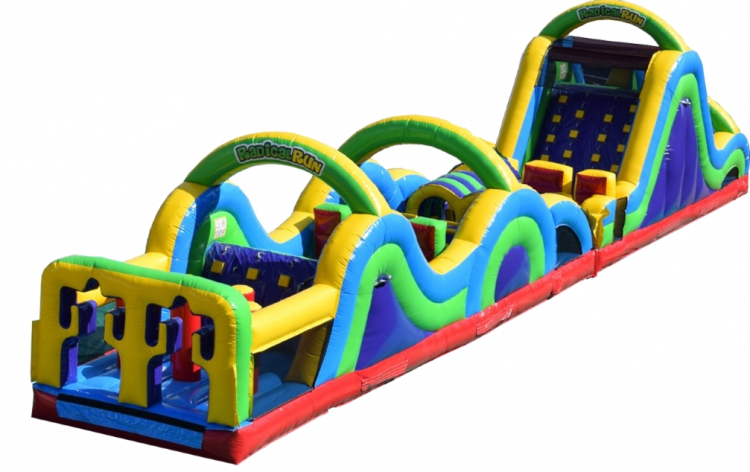 65 ft Radical Run- Slide and Obstacle